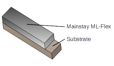 Mainstay ML-Flex over concrete substrate