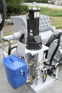 Custom built hydraulically powered airless 100% solids coating spray pump