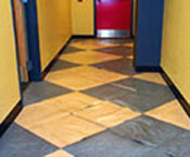 VCT flooring with blisters