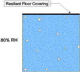 Moisture is distributed evenly underneath resilient floor cover